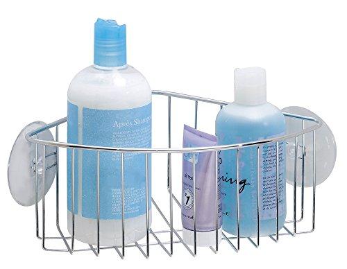 mDesign Cestello Doccia Angolare per Shampoo, Balsamo, Sapone - Cromo