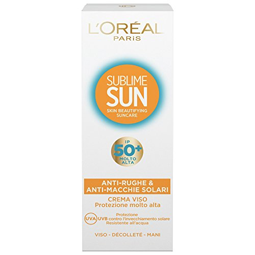 loral-paris-sublime-sun-crema-viso-anti-rughe-e-anti-macchie-solari-ip-50-75-ml