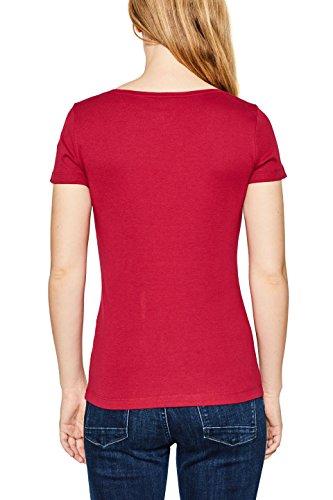 ESPRIT Damen T-Shirt Rot (Cherry Red 615)