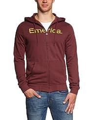 Emerica sweat-shirt à capuche et fermeture éclair pour homme pure solid