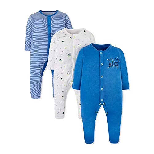 Mothercare Io B Little Space 3pk Sleeps Pijama, ((Bright Blue 478), 12-18 Months (Size:86) para Bebés