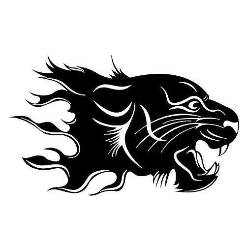 Zyunran Auto-Aufkleber Merchandiseprodukte Aufkleber Auto Auto Aufkleber geschnitzt Tier Aufkleber Löwe Totem Auto Auto Aufkleber Scratch Auto Aufkleber 16 * 9,8 cm schwarz
