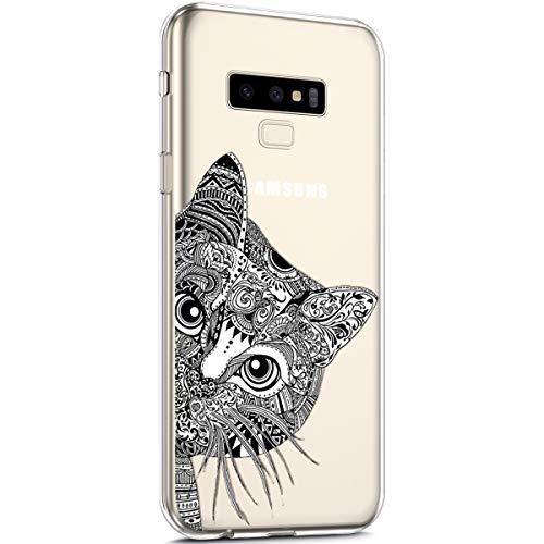 dcba7354c79 Surakey Funda Compatible para Samsung Galaxy Note 9 Funda Silicona  Protección Suave Transparente Patrón Carcasa Ultra
