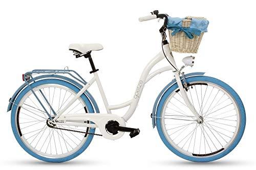 Goetze Damen Colours 26 Zoll Bmx-räder, Weiß/Blau, M (Weiß Rad Und Blau-bmx)
