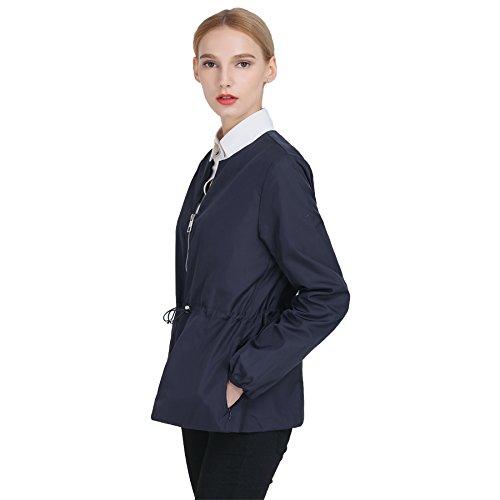 Hoffen Cappotto Basic Jacket,Giacca Donna blu marina