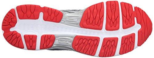 Asics Gel-Cumulus 18 Synthétique Chaussure de Course Carbon-Silver-Vermilion