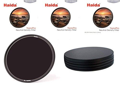 HAIDA Ultra Slim NanoPro MC ND Graufilterset 8X, 64x, 1000x - 72 mm, inkl. Stack Cap Filtercontainer