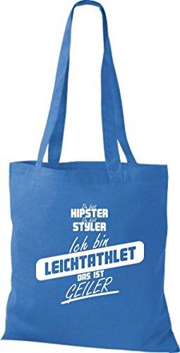Shirtstown Stoffbeutel du bist hipster du bist styler ich bin Leichtathlet das ist geiler royal