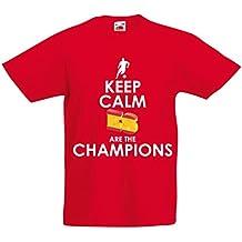 lepni.me Camiseta Niños/Niñas Españoles Son los campeones, Campeonato de Rusia 2018