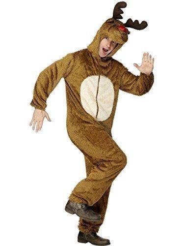 Herren Einteiler Jumpsuit Tier Hirsch Rentier Do Einteiler Outfit Overall Kostüm (Hirsch Kostüm Outfit)