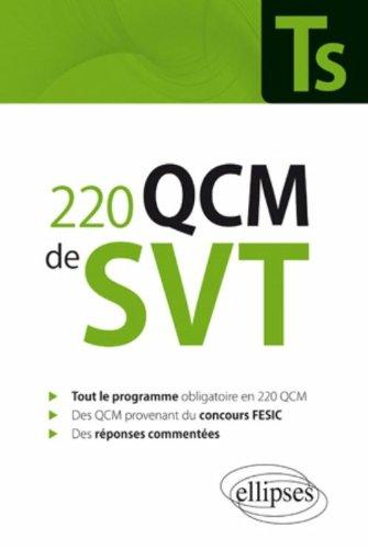 220 Qcm de Svt Terminale S & Concours Fesic Enseignement Obligatoire