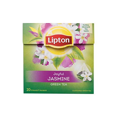 Lipton Green Tea & Jasmine Petals Pyramid Luxury Tea Bags with Real Tea Leaves Exclusive Collection