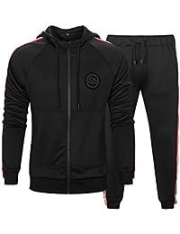 huge discount c6d51 2ebf5 MANLUODANNI Mens Tracksuit Set Gym Bottoms Top Jogging Joggers Sports Suit  Zip Hoodie Jacket Pants