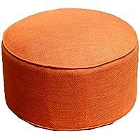 Preisvergleich für JianMeiHome Kissen Stuhlkissen Sitzkissen Tatami Mat Leinen Kissen Tatami Stoff Kissen Portable Verdickung sitzen Pier Orange