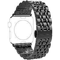 Hunpta@ Uhrenarmband für Apple Smart Watch Series 4 44mm, Echtes Edelstahl Armband Uhrenarmband