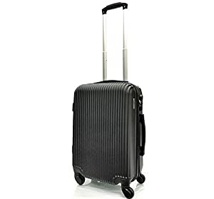 EasyJet, British Airways, Monarch & Jet 2 Cabin Approved Super Lightweight Hardshell ABS Hand Luggage Trolley 4 Wheeled Spinner Luggage Bag - FITS WITHIN 56x45x25cm