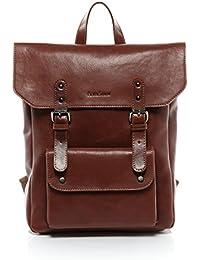 "FEYNSINN sac à dos mince PHOENIX - sac à dos en cuir approprié pour 14"", iPad style Vintage - backpack châtain clair en cuir véritable"