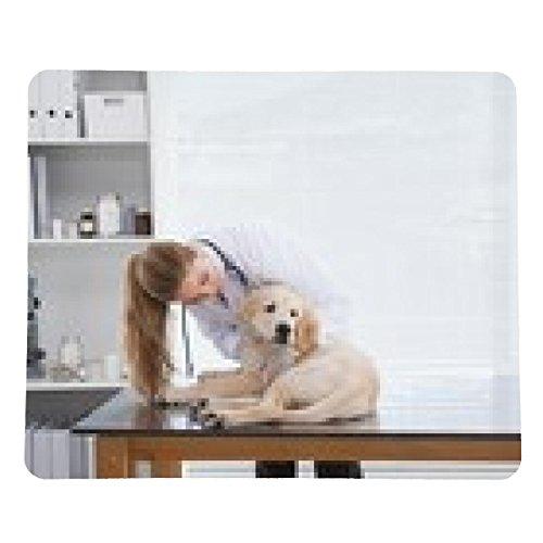 tappetino per mouse Vet controllare un piccolo cane - rettangolare - 23cm x 19 cm