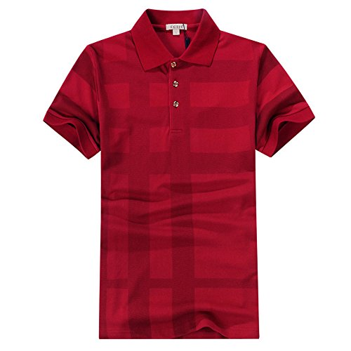 ECTIC Classic style Men's Business Polo shirt Herren Poloshirts Size S-XXL B32051 Red