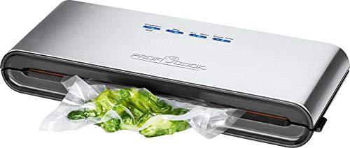 ProfiCook VK 1080 Envasadora de Alimentos al vacío automática, caudal de 12 litros/Minuto, 0,8 Bares, 120 W, 0 Decibeles, Gris y Negro