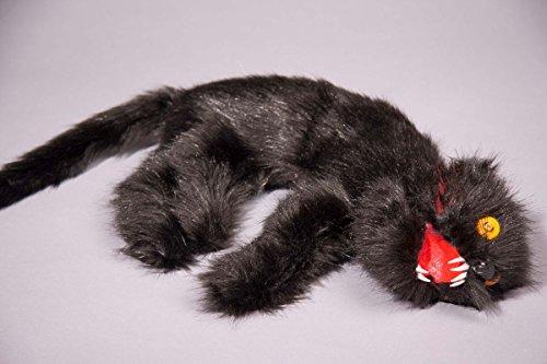 alloween Deko tote schwarze Katze 46cm (Tote Katze Halloween Kostüm)