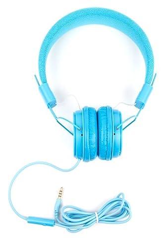 Blaue Bügelkopfhörer im Kinder-Design für Nubia N1 Lite und Gionee A1 / A1 Plus / Steel 2 Smartphone