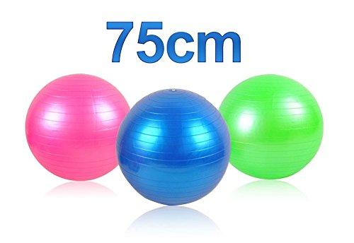 Gymnastikball 55 - 75 cm mit Pumpe Fitnessball Trainingsball für Training #248 , Größe:75 cm