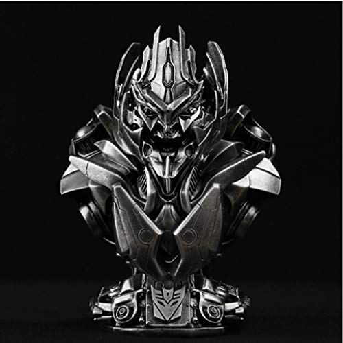 (WSWJJXB Transformatoren 4 Megatron Brust Statue Imitation Kupfer Imitation Eisen GK Harz Modell Statue Anime Ornament 21cm)