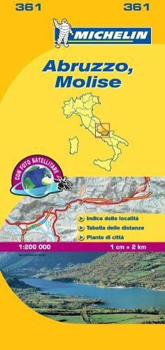 Mapa Local Italia-Abruzzo, Molise (Mapas Local Michelin) por MICHELIN