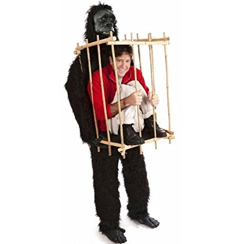 (Gorilla & Cage Costume Fancy Dress)