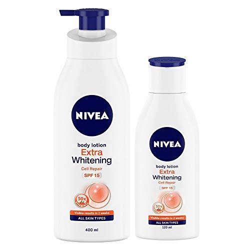 Nivea Extra Whitening Body Lotion, 400ml with Body Lotion, 120ml