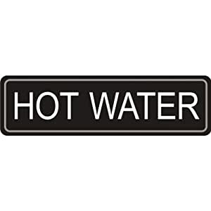 Airpot Étiquette d'eau chaude auto-adhésif autocollant pour une utilisation sur airpots