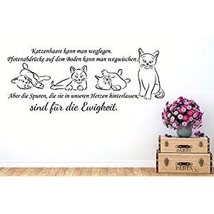 Wandaufkleber-Wandtattoo-Wandsticker ***Katzenhaare kann man wegfegen. (individuelle Zusammenstellung + Größen.- und Farbauswahl)