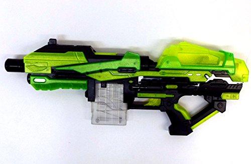 Brigamo 6555 - Luminous Blaster, Dartblaster mit Leucht Magazin Spielzeugblaster inkl. 20 Schuss leuchtender Munition gratis! thumbnail