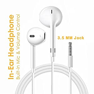 Mobile Gabbar Headphones With Mic For iPhone, Apple, Iphone 4 / 4s / 5 / 5s / 6 / 6s iPad With 3.5mm Jack With Mic And Volume Button Earphone With Mic