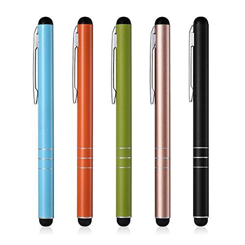 POWERADD 5 Stücke Eingabestift Touchstift Stylus für iPhone 7 6s 6 5 4 4s,iPad,Samsung Galaxy und alle Tablets, Smartphones