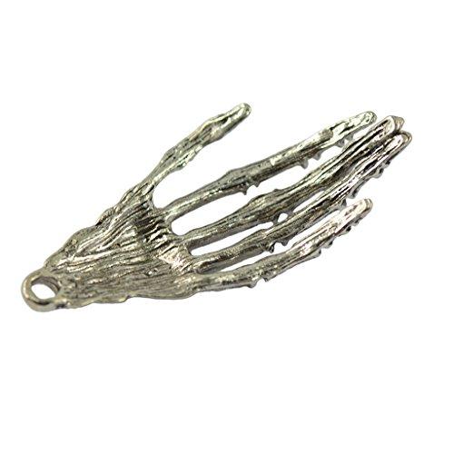 ilber Punk Halloween Rock Skelett Hand Muster DIY Charm Anhänger ()