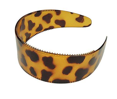 Damen Extra Breit Leopard Print Kopfband alice Band deliktrechts braun