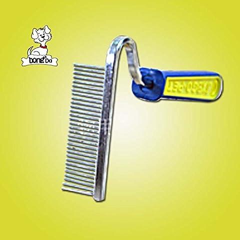 MEICHEN Perro Mascota asa de plástico limpio mascotas belleza azadas peine peine el cabello Baño de masaje pet