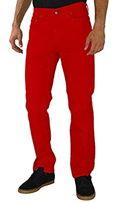 Kayden K SS201 Twill Slim Fit Jeans Red