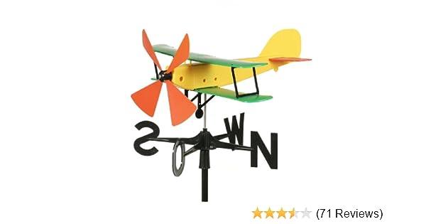 Schumm Flugzeug Windspiel Windrichtungsanzeiger Gartendekoration