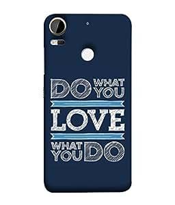 PrintVisa Designer Back Case Cover for HTC Desire 10 Pro (Graphic Backcover Wallpaper Idea Concept Business Proverb )