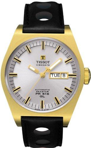 Tissot-T0714303603100-Reloj-analgico-de-caballero-automtico-con-correa-de-piel-negra