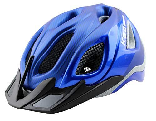 K-E-D KED Certus/Pro/K-Star Fahrradhelm - (M, Pro Metallic Blue Glossy Matt)