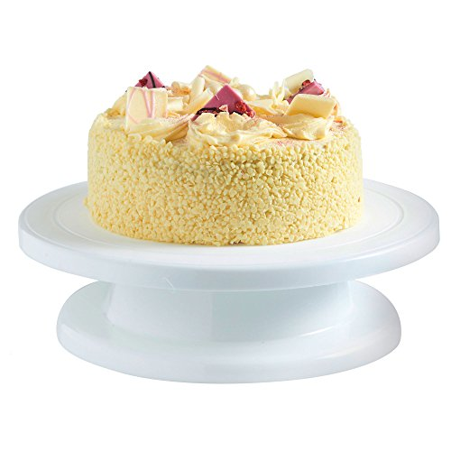 VonShef Plateau Tournant pour Décoration Gâteau – Pâtisserie 27,5 cm