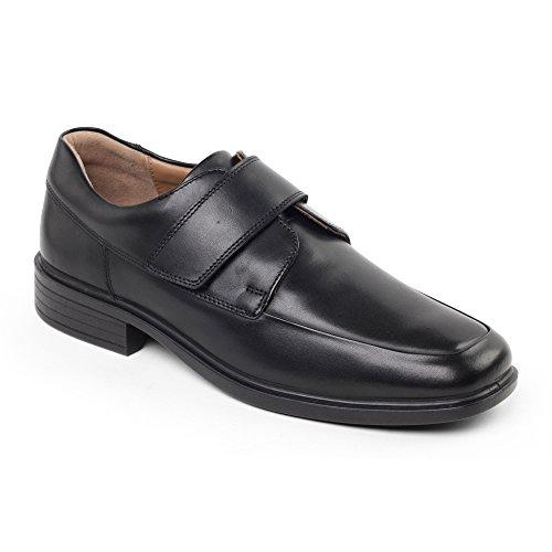 Padders Richard pour homme smart Velcro Chaussures Noir
