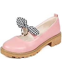 La primavera dulce pajarita y versátil de cabeza redonda con estudiantes bajo el código de tamaño solo zapatos...