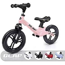 KORIMEFA Bicicleta de Equilibrio sin Pedales para Niños de Aleación de Magnesio Bicicleta Infantil para Andar Niños y Niñas de 18 Meses a 5 años (Rosa)