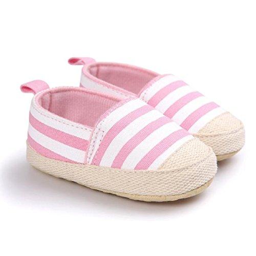 BZLine® Baby Jungen Leinwand Sneaker Anti-Rutsch weiche Sohle Schuhe Pink