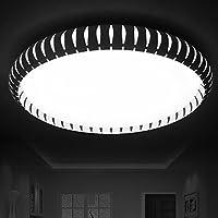 KHSKX Lampada da soffitto,Round in ferro battuto LED Bianco Lampada da soffitto soggiorno lampada personalità creative piccola camera da letto studio lampade lampada lampade di diametro caldo il ristorante 460/560mm* 70mm , 460mm